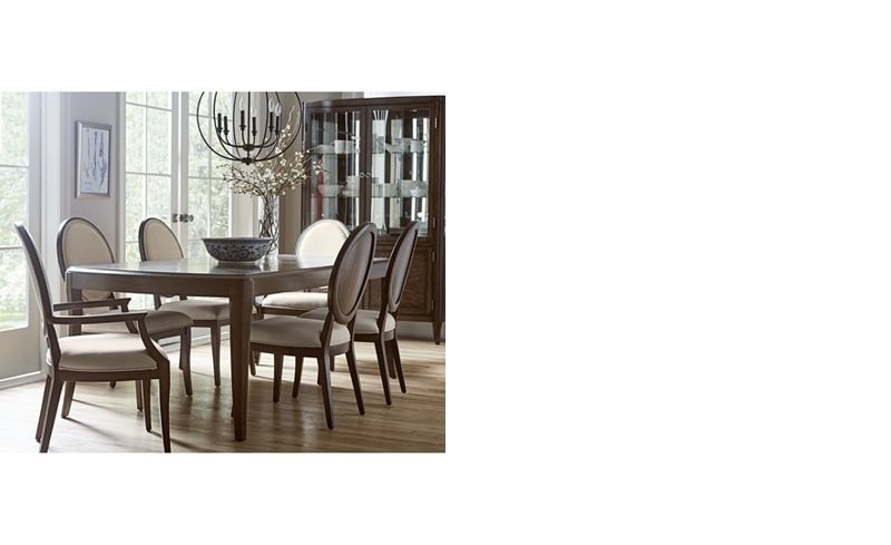 2017 Delfina Dining Furniture, 7 Pc. Set (Expandable Leg Dining Table, 4 Inside Delfina Side Chairs (Gallery 4 of 20)