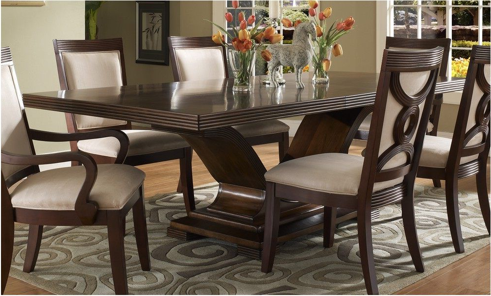 2017 Dining Tables Dark Wood Pertaining To Extraordinary Dark Wood Dining Room Set Wonderful With Photo Of Dark (View 11 of 20)