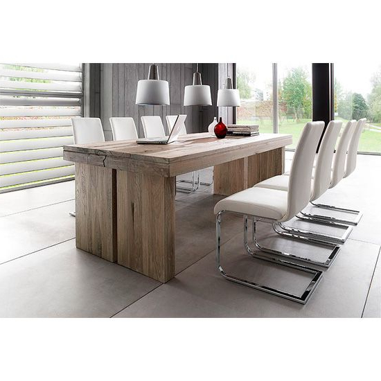 2017 Dining Tables For Eight Pertaining To Dublin 8 Seater Dining Table In Solid Oak With Lotte Chair (View 14 of 20)