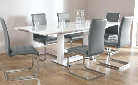 2017 Extending Dining Tables 6 Chairs Regarding White Extending Dining Table And 6 Chairs Full Size Of Table For 6 (Gallery 3 of 20)