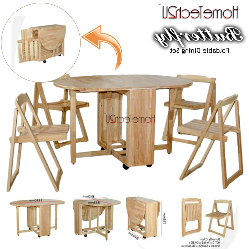 2017 Foldable Dining Table And 4 Folding C (end 6/3/2019 8:15 Pm) Inside Oval Folding Dining Tables (View 15 of 20)