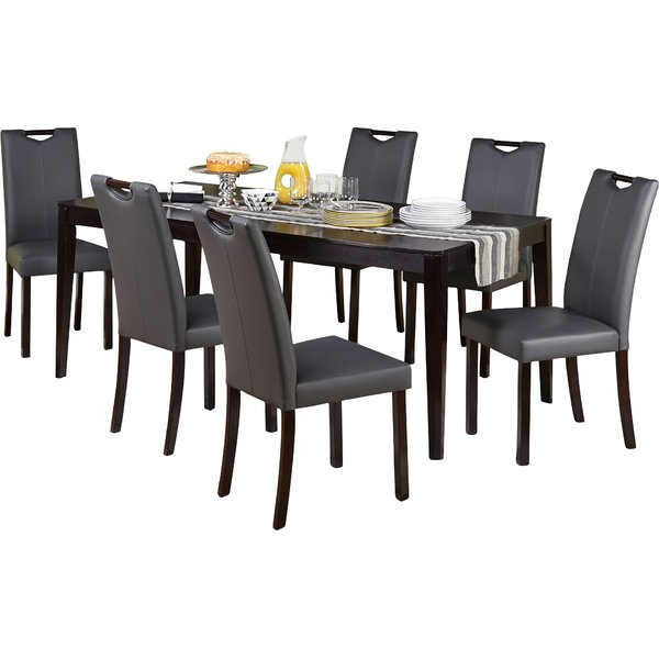 2017 Helms 7 Piece Rectangle Dining Sets With Side Chairs In Modern & Contemporary Gerard 7 Piece Dining Set (View 1 of 20)