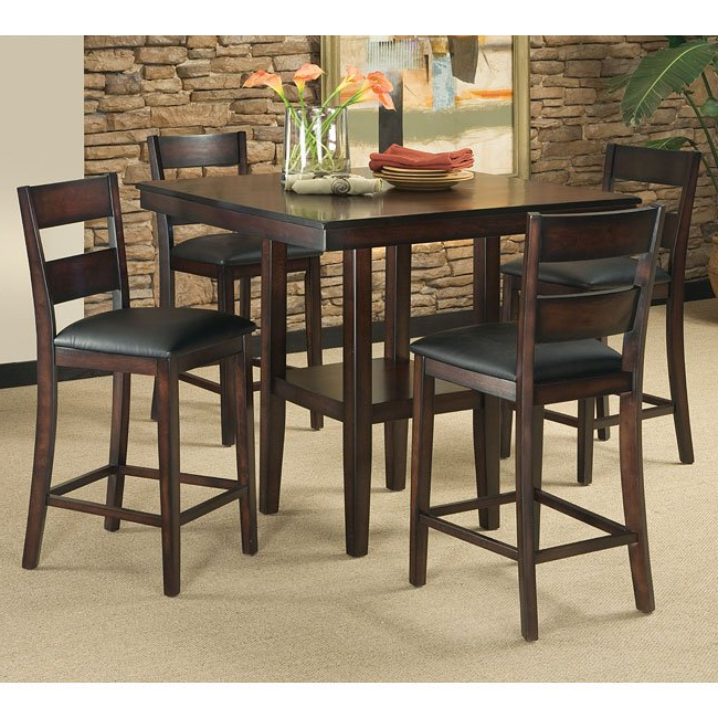 2017 Hyland 5 Piece Counter Sets With Bench With Regard To Pendwood 5 Piece Counter Height Dining Room Set Standard Furniture (View 16 of 20)