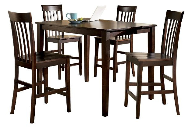 2017 Hyland Counter Height Dining Room Table And Barstools (Set Of 5 Pertaining To Hyland 5 Piece Counter Sets With Bench (View 2 of 20)