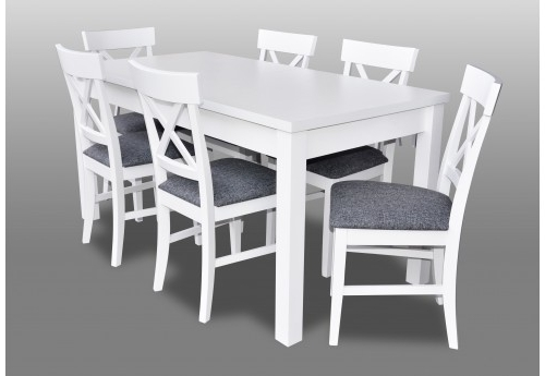 2017 Imágenes De White Dining Room Table With Chairs With Combs 5 Piece 48 Inch Extension Dining Sets With Pearson White Chairs (View 2 of 20)