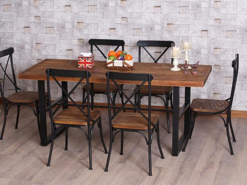 2017 Iron And Wood Dining Tables With Wrought Iron Dining Table – Retro Yet Modern – Blogbeen (View 2 of 20)