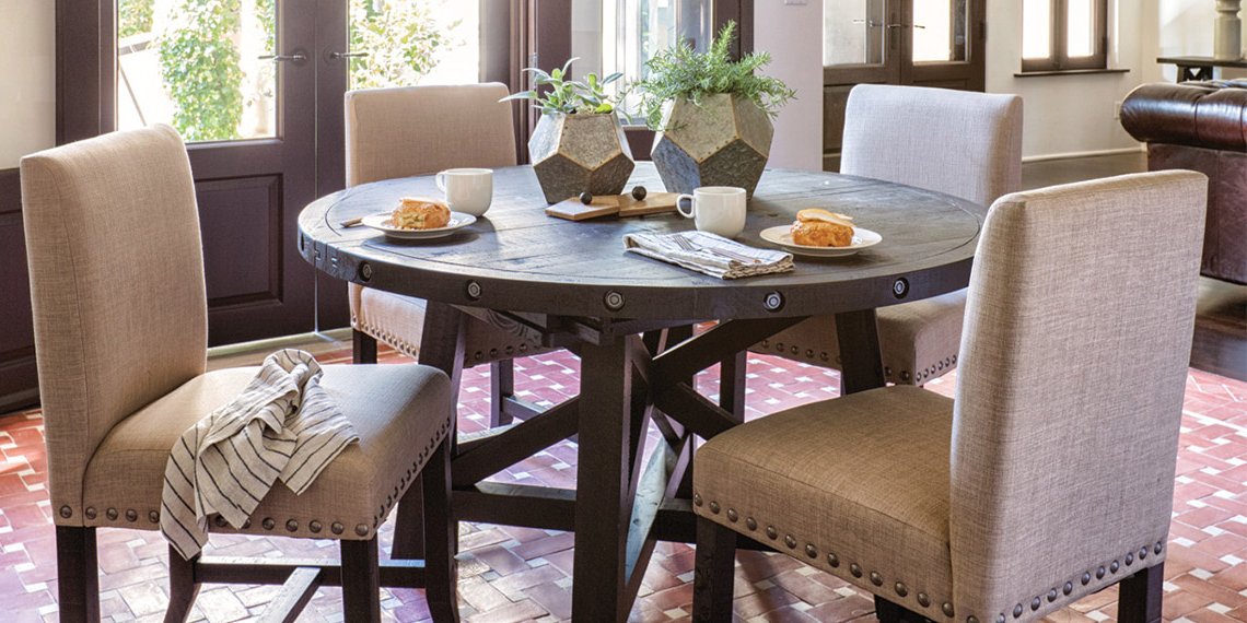 Featured Photo of Jaxon Round Extension Dining Tables
