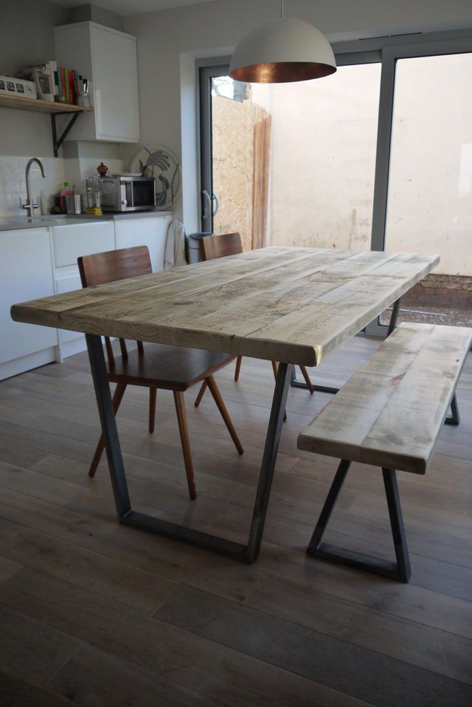 2017 John Lewis Calia Style Vintage Industrial Reclaimed Plank Top Dining Inside Industrial Style Dining Tables (Gallery 8 of 20)