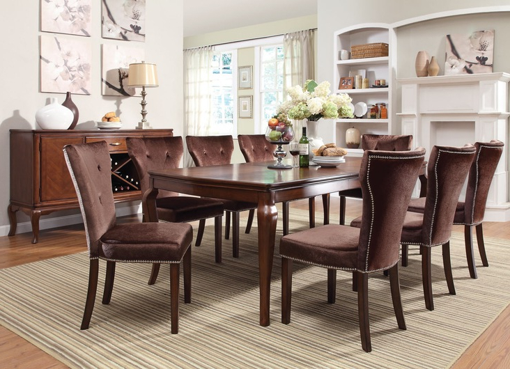 2017 Kingston Dining Tables And Chairs With Acme Furniture Kingston Casual Dining Room Collectiondining (View 13 of 20)