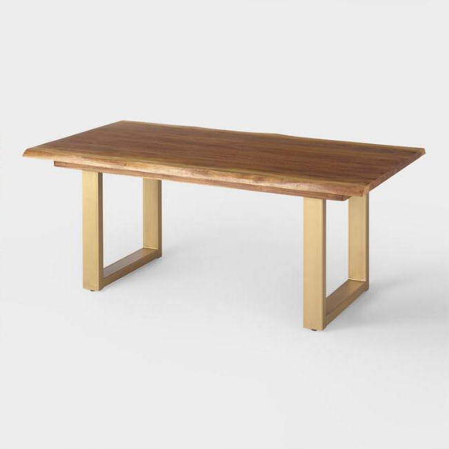 2017 Live Edge Wood Sloan Dining Table World Market Throughout Tables With Regard To Market Dining Tables (View 2 of 20)