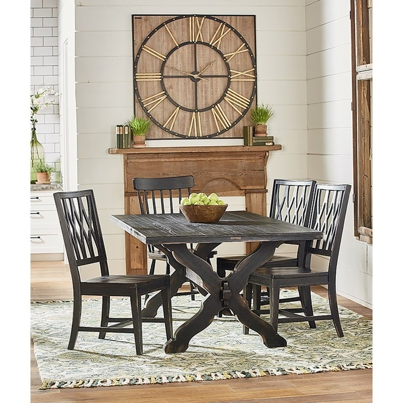2017 Magnolia Home Camden Side Chairs Pertaining To Rustic Trestle Table And Chair Setmagnolia Homejoanna Gaines (Gallery 12 of 20)