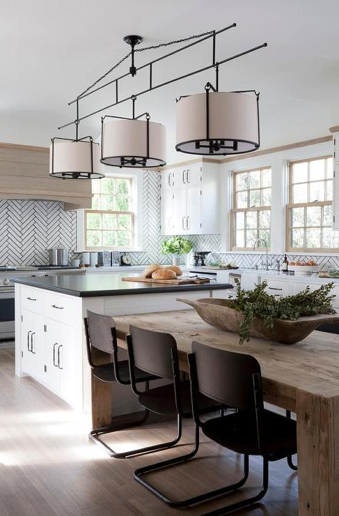 2017 Next White Dining Tables With Dining Table Next To Kitchen Island Design Ideas (View 3 of 20)