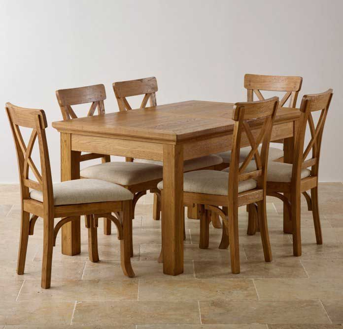 2017 Oak Dining Light Oak Dining Set Light Oak Dining Table And Chairs Throughout Light Oak Dining Tables And 6 Chairs (View 3 of 20)