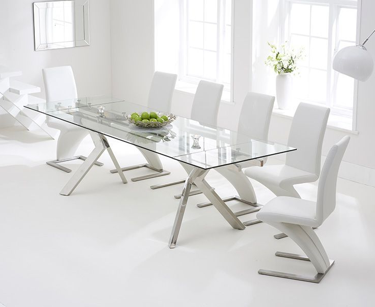 2017 Palazzo Rectangle Dining Tables Regarding Palazzo 200Cm Glass Extending Dining Table (View 1 of 20)