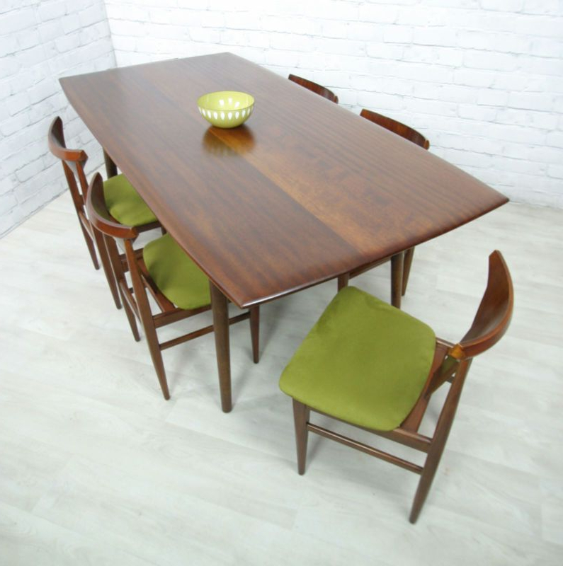 2017 Retro Vintage Teak Mid Century Danish Style Dining Table Eames Era Inside Retro Dining Tables (View 2 of 20)