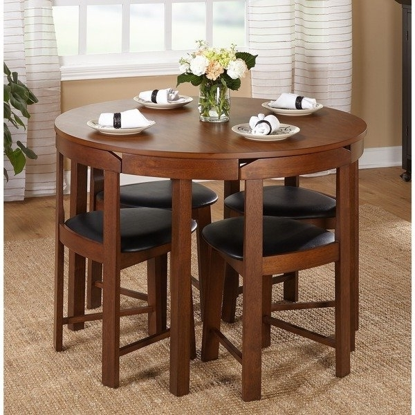 2017 Shop Harrisburg 5 Piece Tobey Compact Round Dining Set – Free Intended For Compact Dining Room Sets (View 9 of 20)