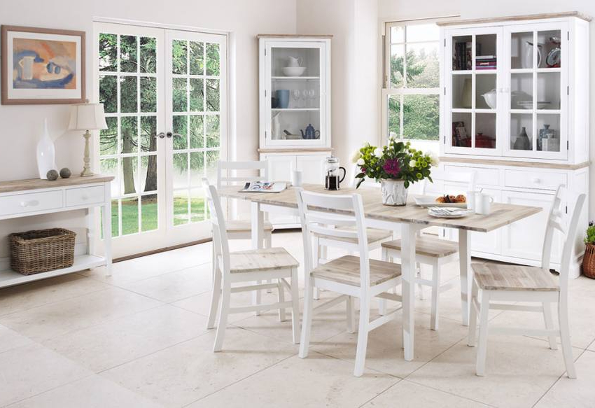 2017 Statement Furniture – Florence White Matt Painted & Washed Acacia With Florence Dining Tables (View 1 of 20)