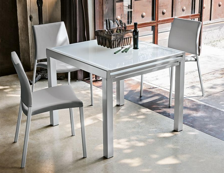 2017 Target Point Contemporary Vega Square Extending Dining Table With Contemporary Extending Dining Tables (View 1 of 20)