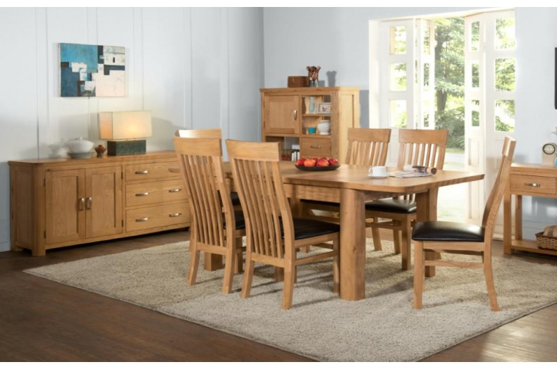 2017 Treviso Oak 6' Extension Dining Set – 392 – Solid With Regard To Rocco Extension Dining Tables (Gallery 20 of 20)