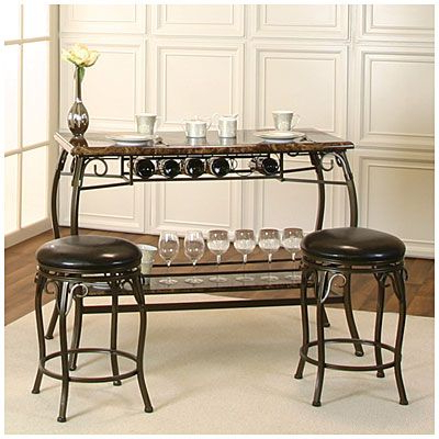 2017 Valencia 5 Piece Counter Sets With Counterstool In Our New Wine Bar. :>) Counter Height Marquee 3 Piece Bar Set At Big (Gallery 19 of 20)