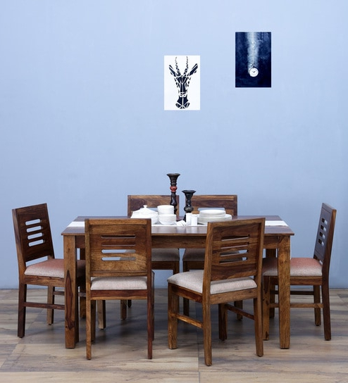 2017 Valencia 72 Inch 6 Piece Dining Sets With Buy Valencia Six Seater Cushioned Dining Set In Provincial Teak (View 3 of 20)