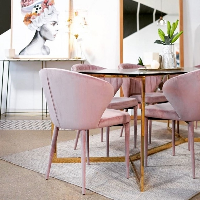 2017 Valencia Side Chairs With Upholstered Seat Intended For Valencia Dining Chairclickon Furniture (View 11 of 20)