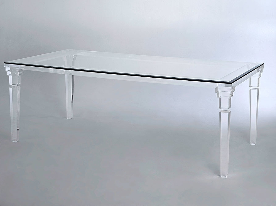 2017 Versailles Acrylic Dining Table (View 3 of 20)