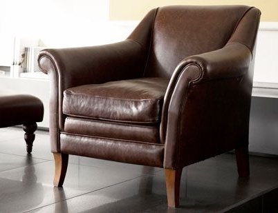 2017 Walden Leather Occasional Chair (View 10 of 20)