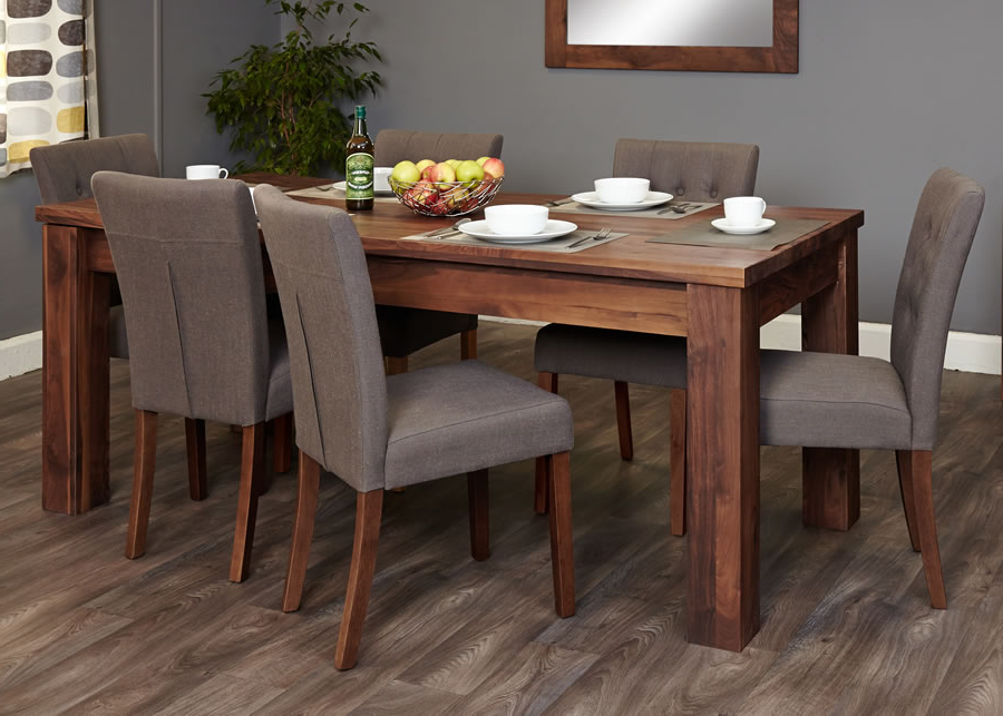 2017 Walnut Dining Table Sets Within Walnut Dining Room Set – Domainmichael (View 2 of 20)