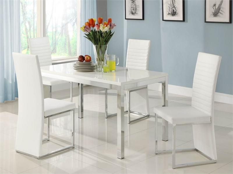 2017 White Dining Sets Regarding Clarice Collection Dining Set (View 7 of 20)
