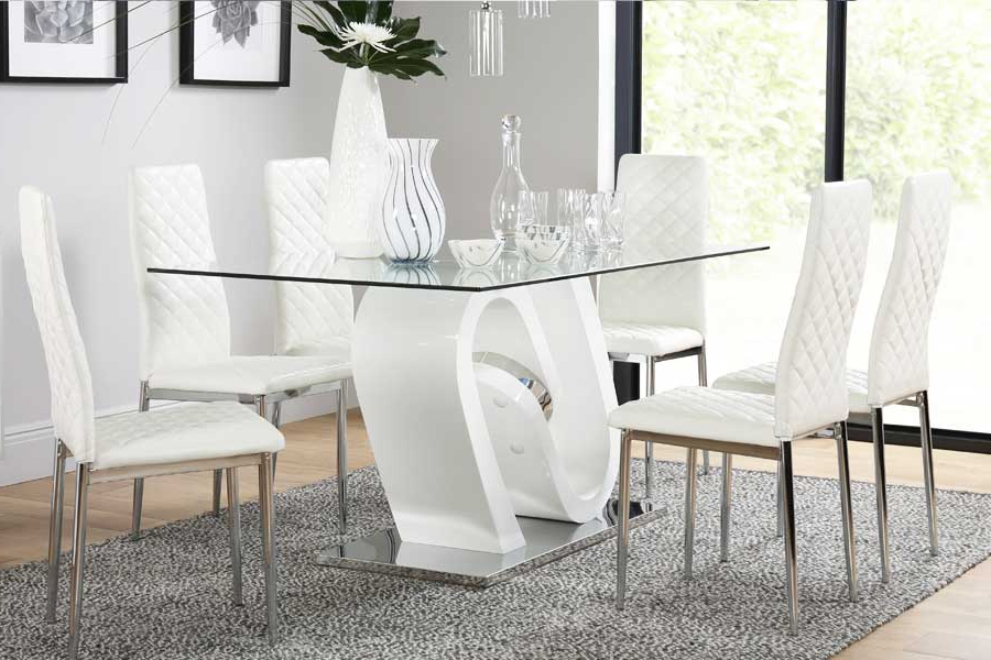 2017 White Dining Tables And 6 Chairs With Regard To Dining Table & 6 Chairs – 6 Seater Dining Tables & Chairs (Gallery 1 of 20)