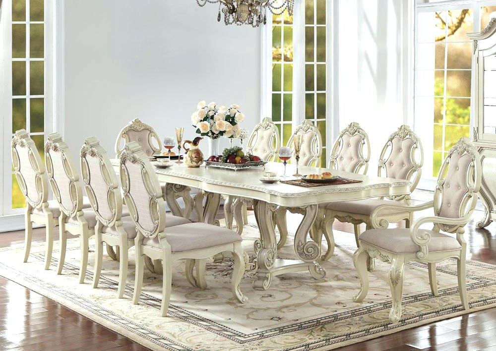 2017 White Dining Tables Sets Within White Dining Table Set Uk – Castrophotos (View 1 of 20)