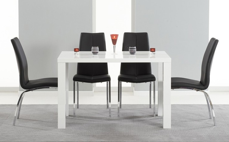 2017 White Gloss Dining Furniture With Regard To High Gloss Dining Table Sets (Gallery 1 of 20)