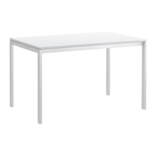 2017 White Melamine Dining Tables Regarding Melltorp Table White 125 X 75 Cm – Ikea (Gallery 2 of 20)