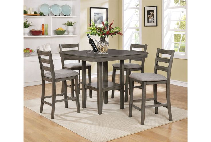2018 14 Best Stools Images On Pinterest Inside Jameson Grey 5 Piece Counter Sets (View 15 of 20)