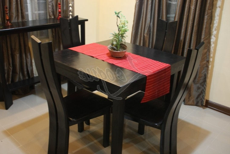 2018 4 Seat Dining Tables Regarding 4 Seater Dining Table Set W Chairs : Leoque Collection – One Look (View 15 of 20)
