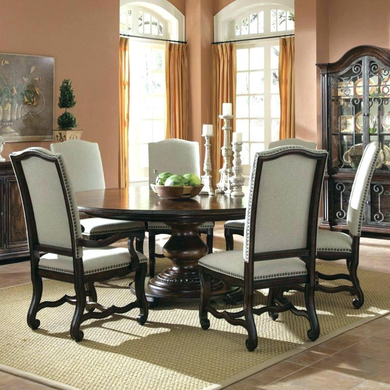 2018 6 Person Round Dining Tables Regarding 6 Person Round Dining Table 6 Person Dining Table Round Kitchen (View 2 of 20)
