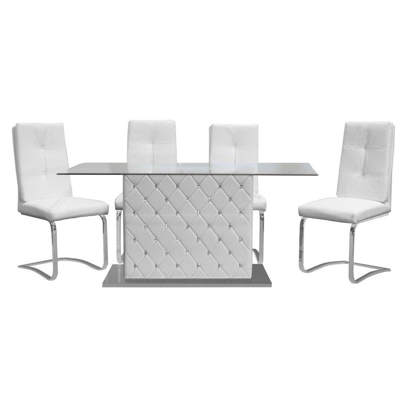 2018 Amos 7 Piece Extension Dining Sets In Mariano Furniture – Ericka 5 Piece Dining Table Set In White (View 9 of 20)