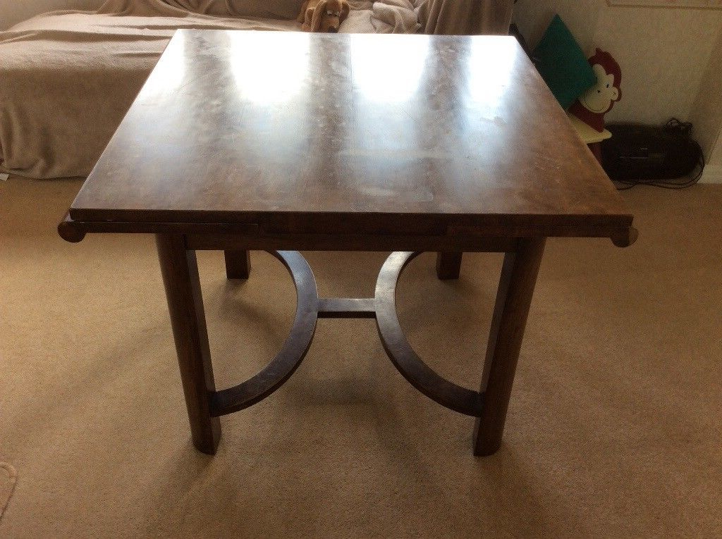 2018 Art Deco Design Mahogany Extending Dining Table. (Gallery 20 of 20)