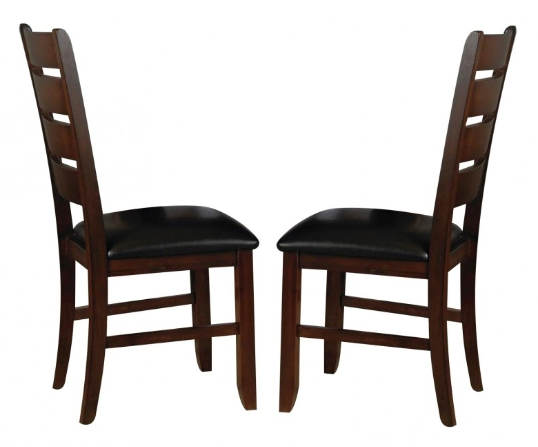 2018 Bardstown Side Chairs For Crown Mark Crown Mark Bardstown Side Chair In Espresso (Set Of  (View 2 of 20)