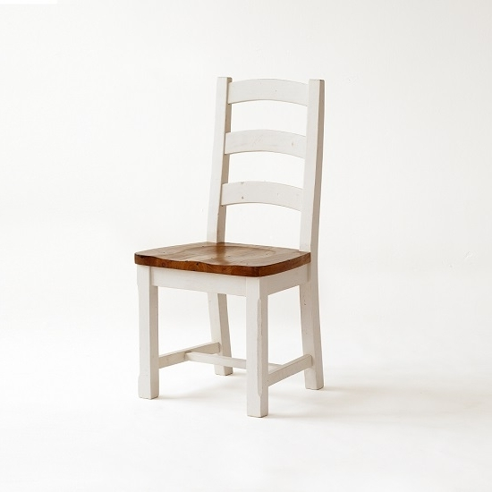 Featured Photo of Pine Wood White Dining Chairs