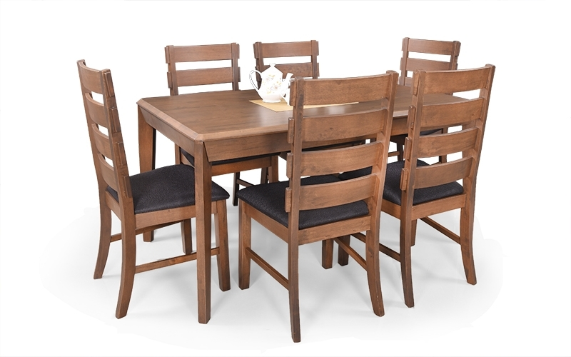 2018 Buy Royaloak Ranger 6 Seater Dining Set With Cushioned Chairs For Ranger Side Chairs (View 7 of 20)