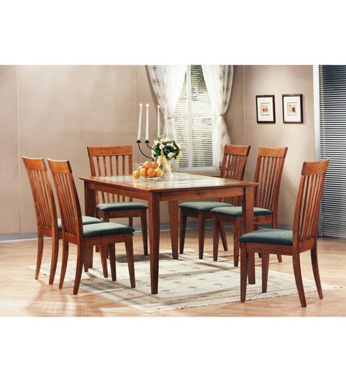2018 Buy Zuari Kingston Six Seater Dining Set With Glass Top Online – Six Inside Kingston Dining Tables And Chairs (Gallery 14 of 20)