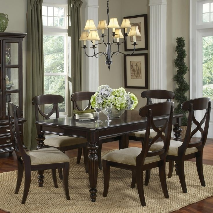 2018 Caira 7 Piece Rectangular Dining Sets With Diamond Back Side Chairs In 22 Best For My New Home Images On Pinterest (View 9 of 20)