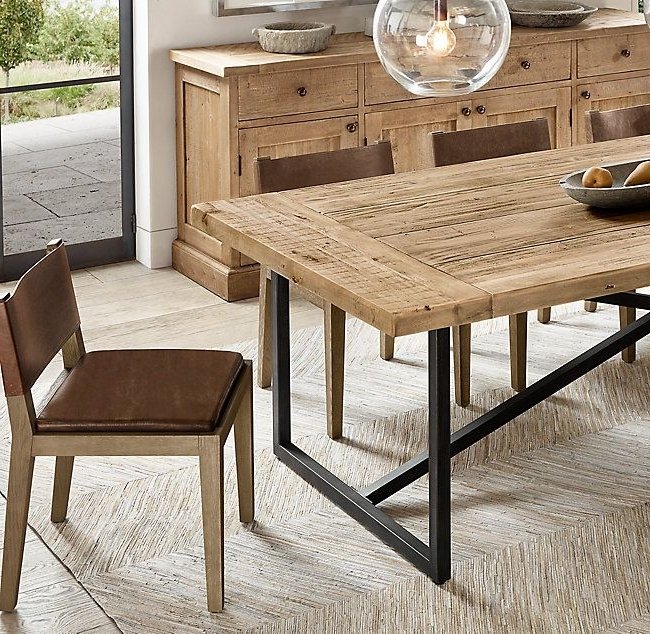 2018 Caira 9 Piece Extension Dining Sets With Diamond Back Chairs Pertaining To Torano Salvaged Rectangular Dining Table (View 6 of 20)