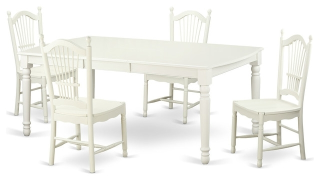 2018 Carly Rectangle Dining Tables Within Carly Rectangular Dining Table Set, White – Traditional – Dining (View 2 of 20)