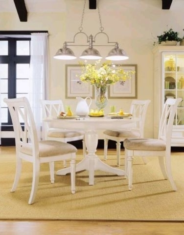 2018 Cintra Reclaimed Wood White Expandable Round Dining Table 47 With Regard To Cintra Side Chairs (Gallery 18 of 20)