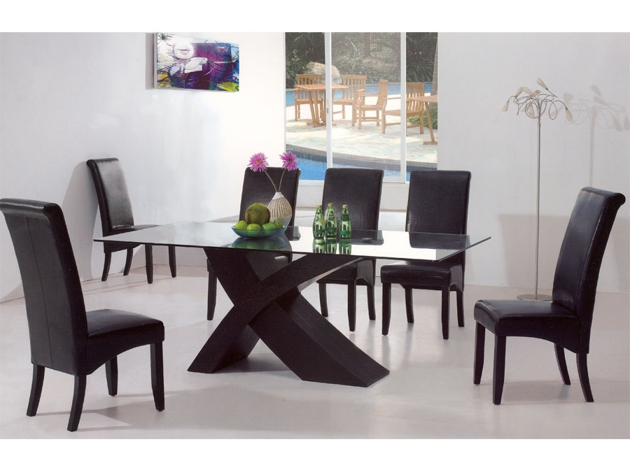 2018 Contemporary Dining Room Tables And Chairs Intended For Modern Dining Table Glass : The Holland – Nice, Warm And Cozy Modern (Gallery 1 of 20)