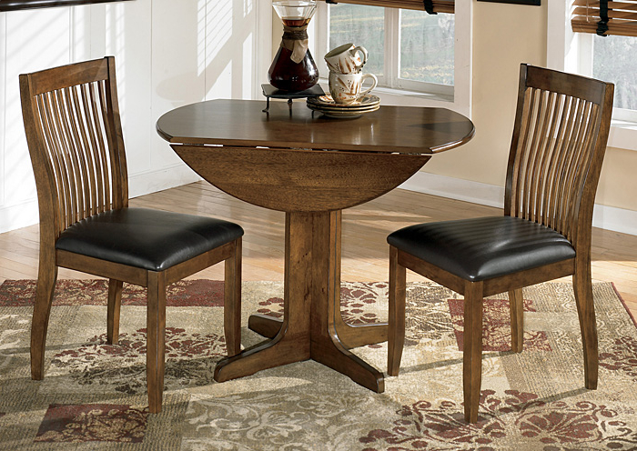 2018 Craftsman 5 Piece Round Dining Sets With Uph Side Chairs Within Select Imports Furniture And Decor Stuman Round Drop Leaf Table W/ (View 3 of 20)