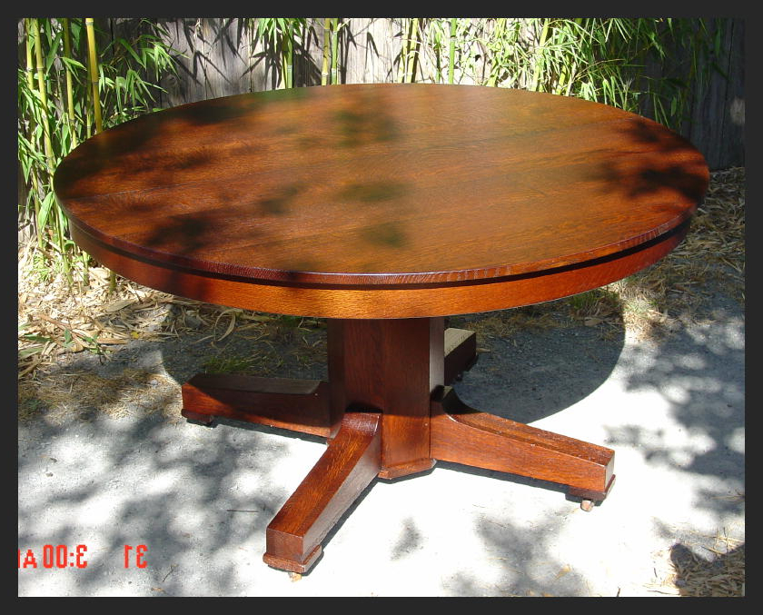 2018 Craftsman Round Dining Tables Throughout Voorhees Craftsman Mission Oak Furniture – Stickley Style Mission (Gallery 13 of 20)